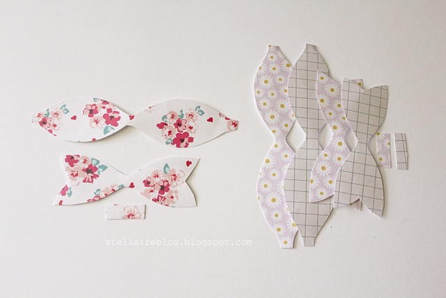 paper bow pieces