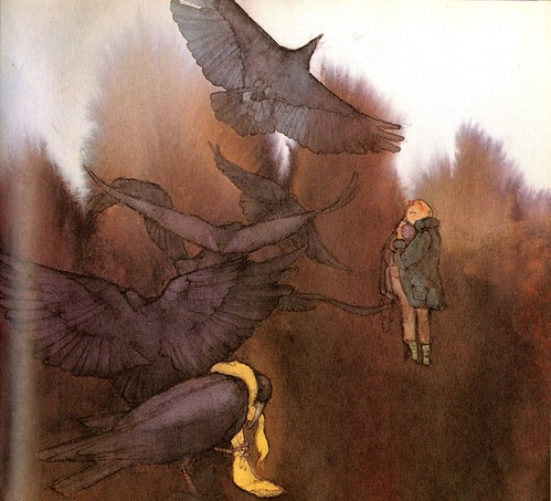 """The Seven Ravens"" by the Brothers Grimm; illustrations by Lisbeth Zwerger."