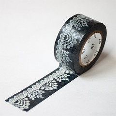 mt ex black lace washi tape