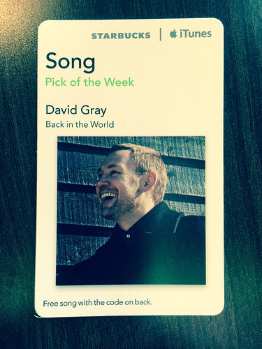 Starbucks iTunes Pick of the Week - David Gray - Back in the World