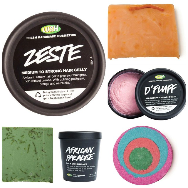 LUSH-summer-2014-group, fresh new lush, summer 2014, summer collection, lush body products