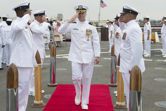 USS Rushmore Change Of Command Ceremony, June 10, 2014