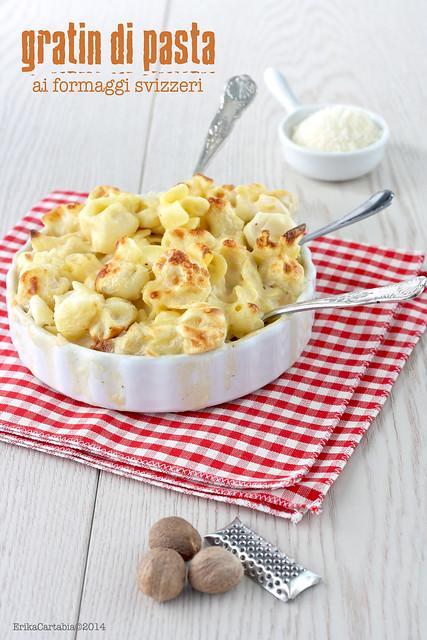 gratin di pasta ai formaggi svizzeri