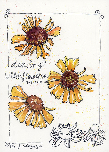 dancing wildflowers