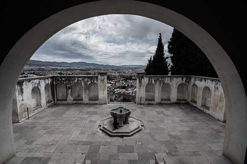skyline architecture spain view alhambra granada