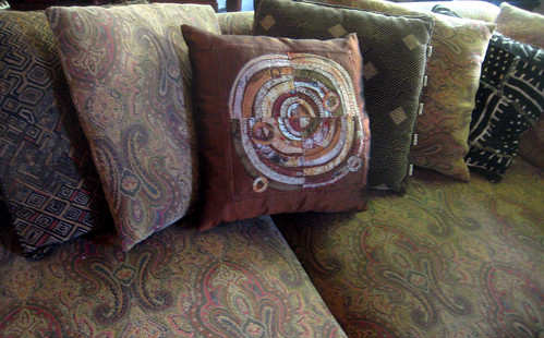 Recycled Circles Pillow