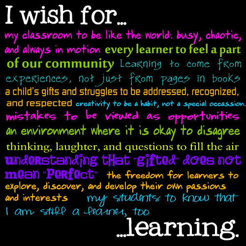 I wish for....