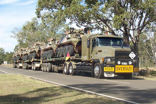 Mack CH/R army triple road train