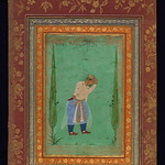 Album of Persian and Indian calligraphy and paintings, Portrait of Prince Dāniyāl, brother of Jahāngīr, Walters Manuscript W.668, fol.28b