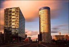 Between 2 buildings