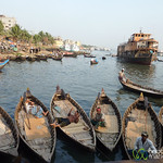 Rowboats at Sadarghat - Dhaka, Bangladesh