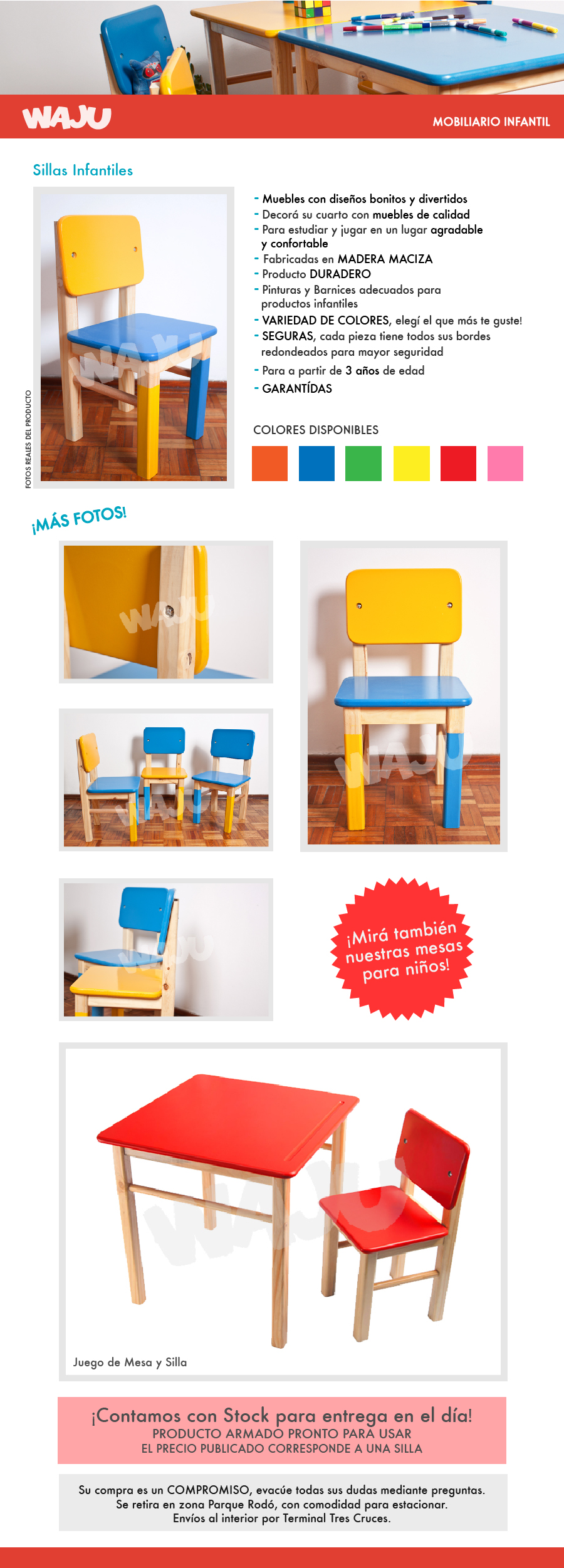 Silla infantil de madera for Muebles infantiles diseno
