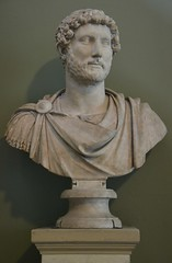 Marble bust of the emperor Hadrian wearing military dress, from the Pantanello at Hadrian's Villa,  AD 117-118, British Museum
