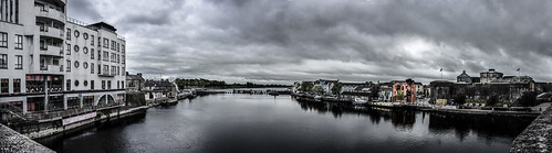 bridge panorama cloud castle cloudy pano shannon athlone