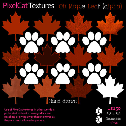 PixelCat Textures - O Maple Leaves - alpha