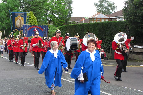 St. Lukes and St. Marks Church, with Adamsons Band, Crescent Road, Dukinfield