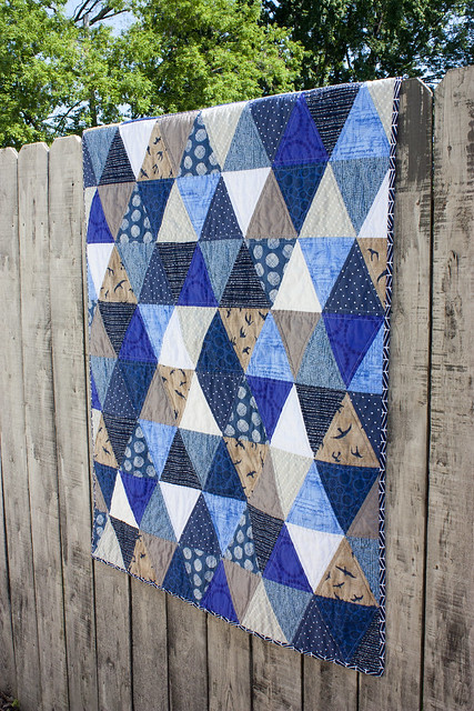 Baby D's triangle quilt