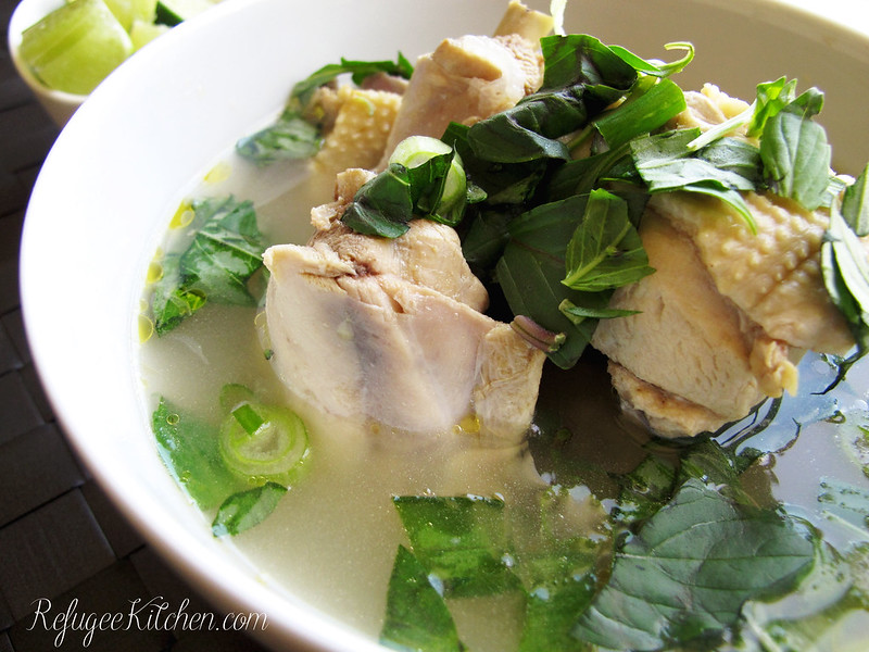 Sgnor Sach Moun - Cambodian Chicken Soup