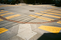asphalt, yellow, road, line, lane, city, public space, road surface, tarmac, pedestrian crossing, zebra crossing,