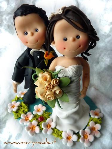 il cake topper per il matrimonio di Monica, regalo di alcuni suoi amici