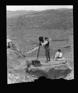 Matson photographing in Petra, 1934 (LOC)