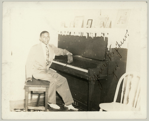 Young man and piano