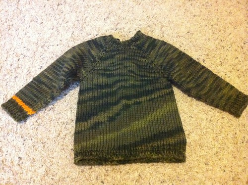 Camo sweater for baby dax
