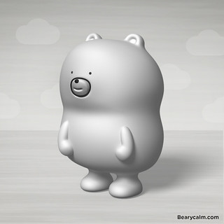White bearycalm in 3D!