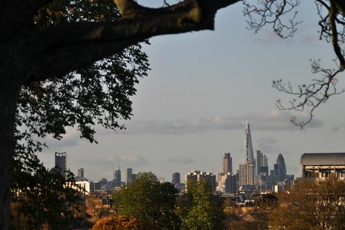 London skyline from Brockwell Park