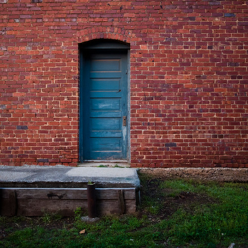 Blue Door, Brick Wall, Madison, Alabama