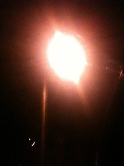 Street lamp before percolation