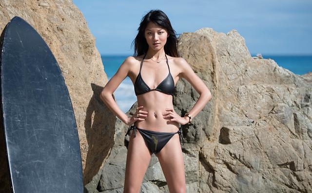Nikon D800 Photographs of a Beautiful Brunette Swimsuit Bikini Model shot ...