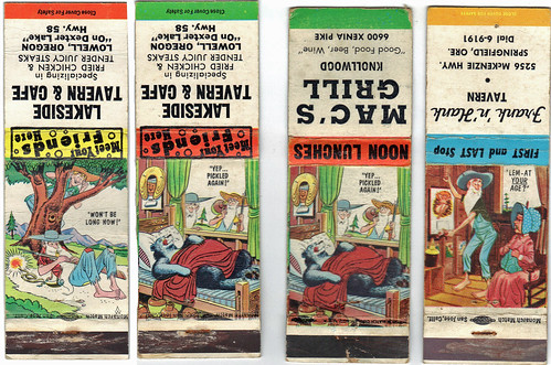 matchbooks - 1940s cartoons
