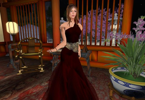 Paris Metro Couture: You Are a Goddess - Wine (c/m) -only for members- by Cherokeeh Asteria