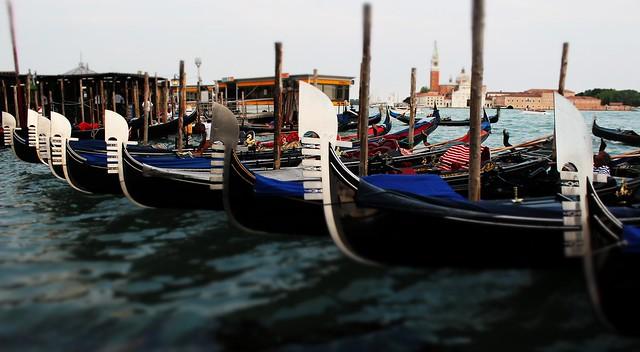 Gondolas in San Marco Vallaresso, Venice