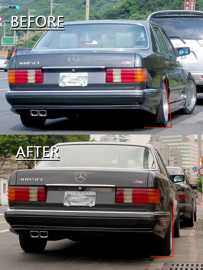 W126 300sel rear camber correction mercedes benz forum for Mercedes benz forum
