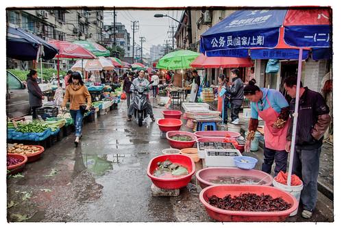 markt in Shanghai
