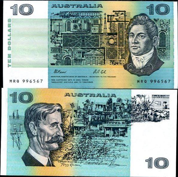 *10 Dolárov Austrália 1974-91, Pick 45