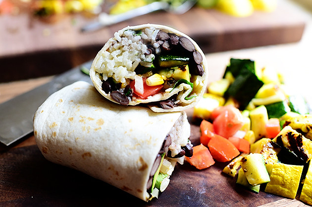 Grilled Veggie Burritos