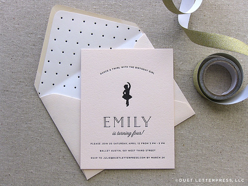 em's fourth birthday invites