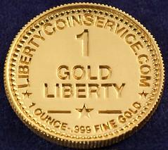 1 Gold Liberty--1 piece