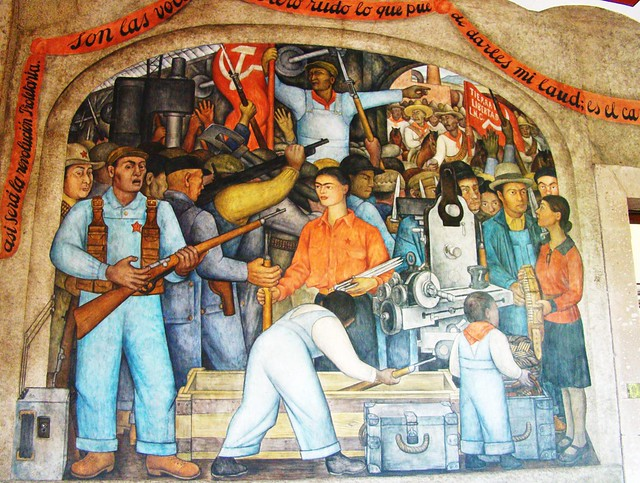 Mexico city diego rivera mural in secretary of public for Education mural