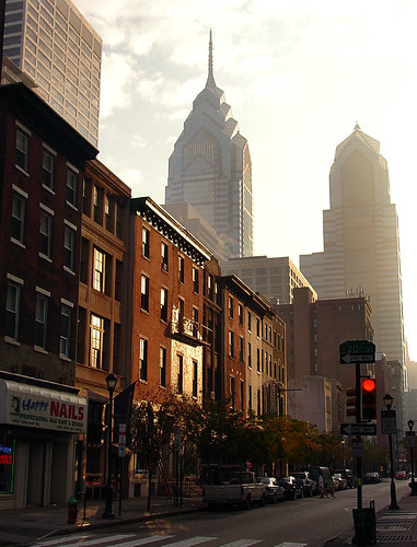 city morning urban usa mist philadelphia fog skyline america sunrise early downtown unitedstates pennsylvania centercity empty unitedstatesofamerica philly rowhouse chestnutstreet libertyplace rowhome