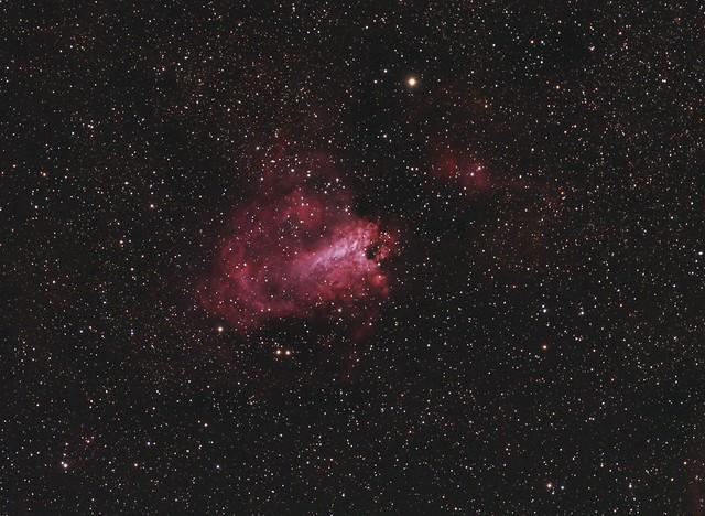 Swan Nebula in Sagittarius   The Swan Nebula (M17) in ...