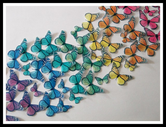 How To Make Edible Butterflies To Decorate Cake