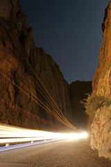 Todra Gorge at night