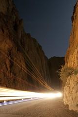 Todra Gorge at night
