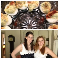 Apr 8, 2012 - deviled eggs (my fave part of Easter!) and @sarahann127 and me in our eyelet dresses