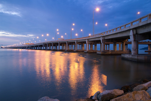 Penang Bridge Sunrise by andruphotography