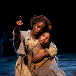 Uzo Aduba (Hannah) and Alanna T. Logan (Jessa) in the Huntington Theatre Company's production of Paula Vogel's A CIVIL WAR CHRISTMAS: AN AMERICAN MUSICAL CELEBRATION playing at the BU Theatre. Part of the 2009-2010 season.